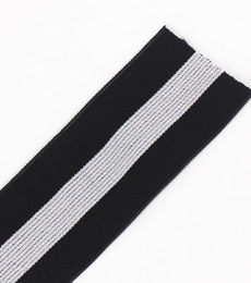 40mm-black-gray-elastic-stretch-ribbon-tape