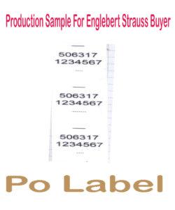PO label engl