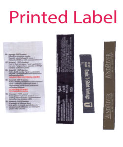printed label 4